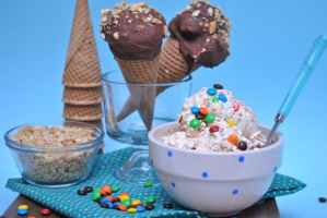 Monster Cookie Dough Ice Cream & Drumsticks
