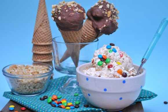 Monster Cookie Dough Ice Cream & Drumsticks