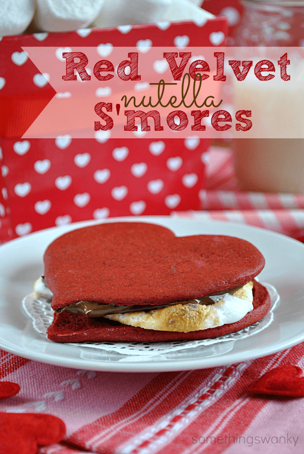 Red Velvet Nutella S'mores. ...Oh yes I did. #redvelvet #nutella #smores