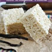 #Vanilla Bean Rice #Krispies Treats on www.somethingswanky.com Everything is better with vanilla bean!