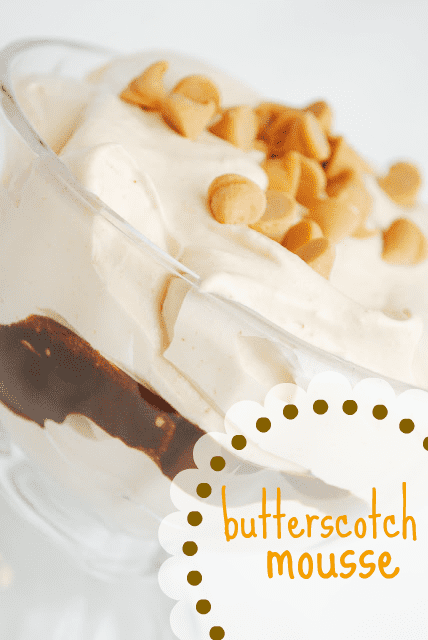 butterscotch mousse