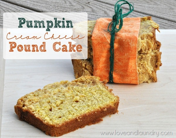 pumpkin cream cheese pound cake
