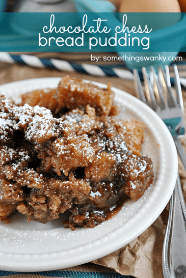 Best Chocolate Bread Pudding | www.somethingswanky.com
