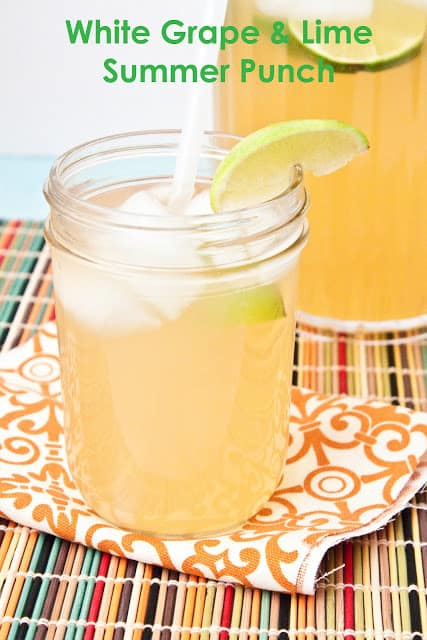White Grape and Lime Summer Punch