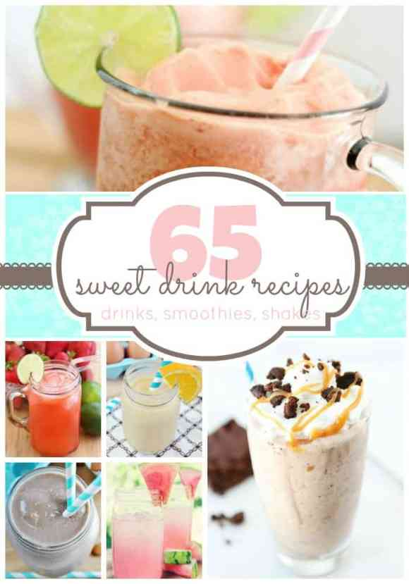 65 recipes for sweet drinks, smoothies, and milk shakes | www.somethingswanky.com