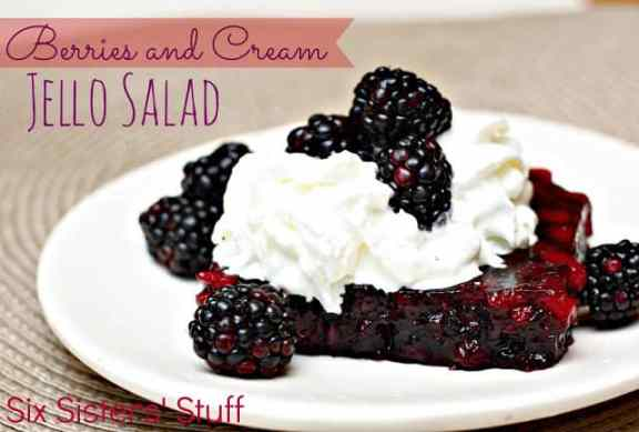 Berries and Cream Jello Salad
