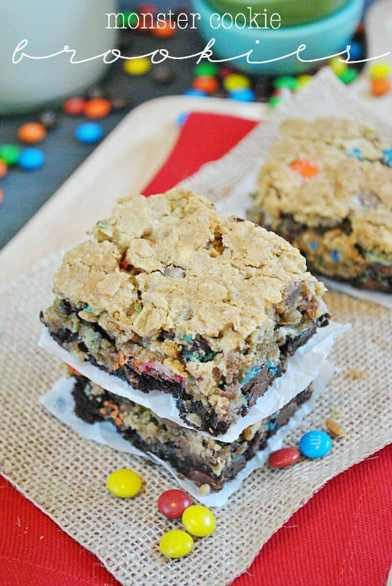 Monster Cookie Brookies | www.somethingswanky.com