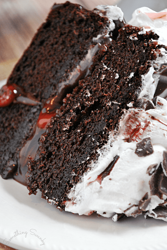 Easy & Elegant Black Forest Cake | www.somethingswanky.com