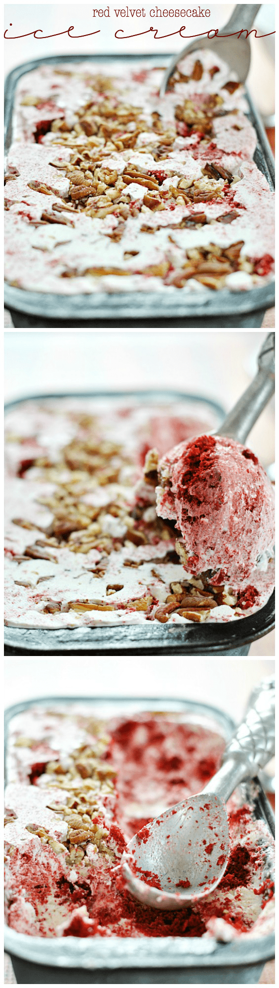 Red Velvet Cheesecake Ice Cream | www.somethingswanky.com
