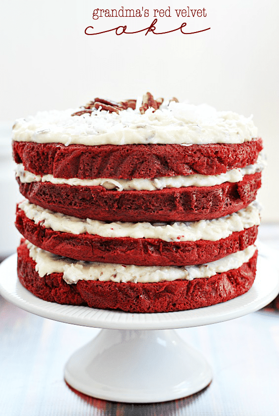 Grandma's Red Velvet Cake | www.somethingswanky.com