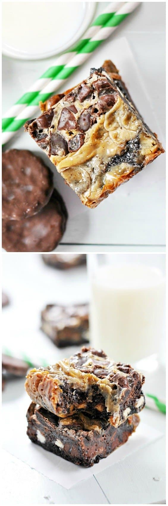 Thin Mint Magic Cookies | www.somethingswanky.com #3weeksofGScookies