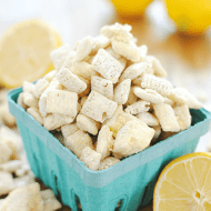Lemon White Chocolate Muddy Buddies | www.somethingswanky.com