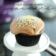 Whipped Chocolate Ganache Cupcakes | www.somethingswanky.com