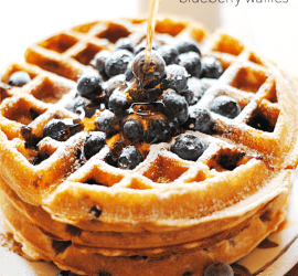 Blueberry Waffles | www.somethingswanky.com