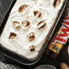 Twix Cheesecake Ice Cream {No machine needed!} | www.somethingswanky.com