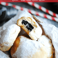 """Baked """"Deep Fried"""" Oreos are just as yummy as the real thing but with a LOT less mess and less fat!"""