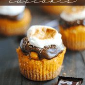 Pumpkin S'mores Cupcakes combine everyone's favorite summer treat with an iconic Fall-time flavor!