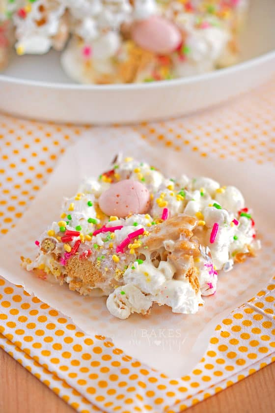Easter Bunny Popcorn Bars