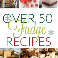 More than 50 recipes for holiday fudge including Pralines and Cream, Vanilla Bean, and S'mores!