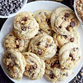 Toasted Coconut & Toffee Chocolate Chip Cookies. This is one of my favorite cookie recipes, because it's so quick and easy and delicious!