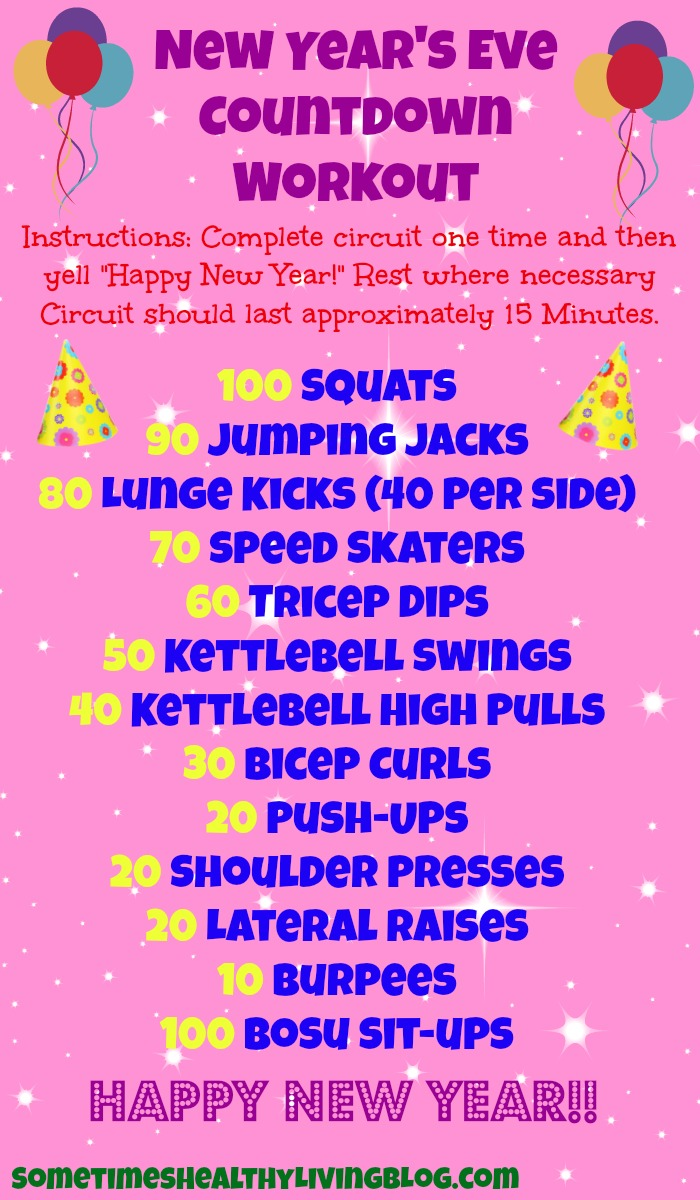 Boozy Baking A New Years Countdown Workout
