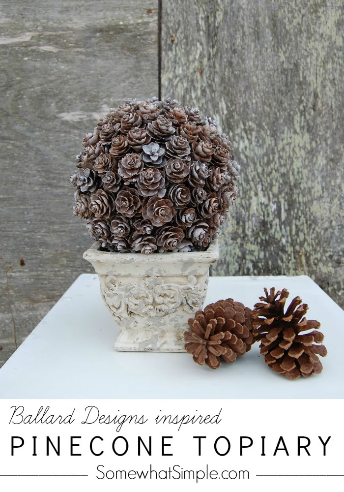Pinecone Topiary Tutorial - Somewhat Simple