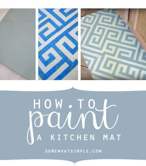 paint a kitchen mat