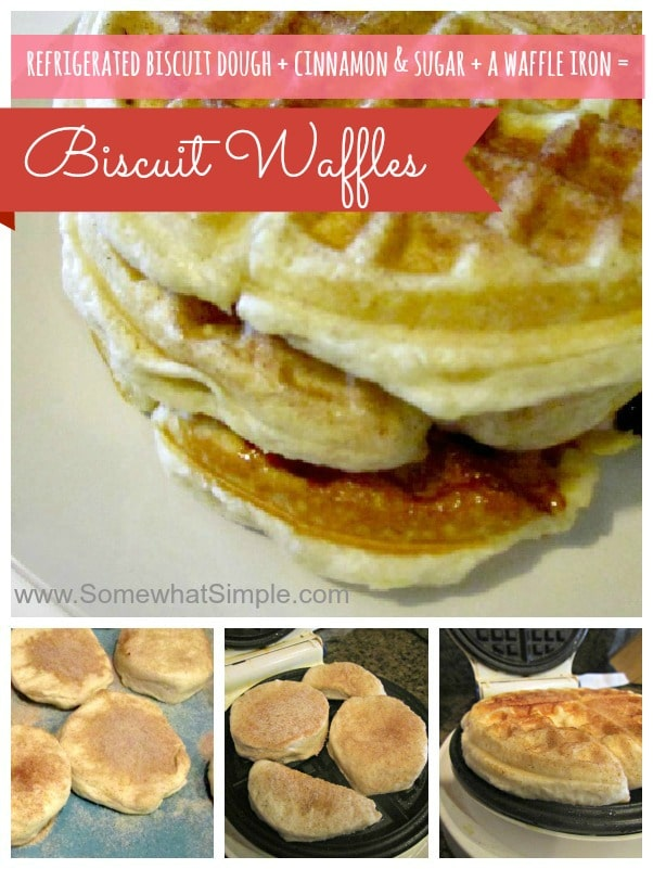 how to make biscuit waffles