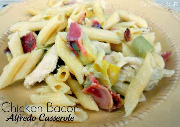 Chicken Bacon Alfredo Casserole