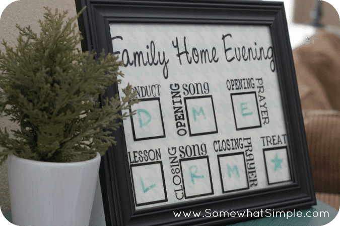family home evening board 2