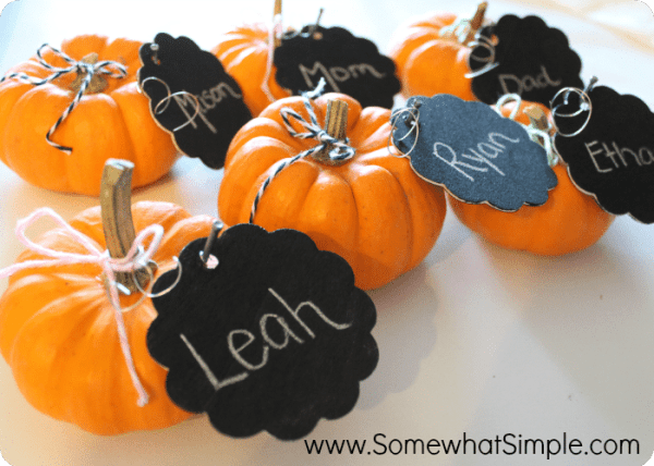 pumpkin place cards 2