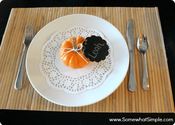 pumpkin place cards 3