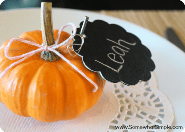 pumpkin place cards 4