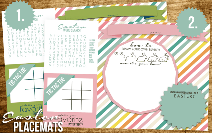 easter placemats free download