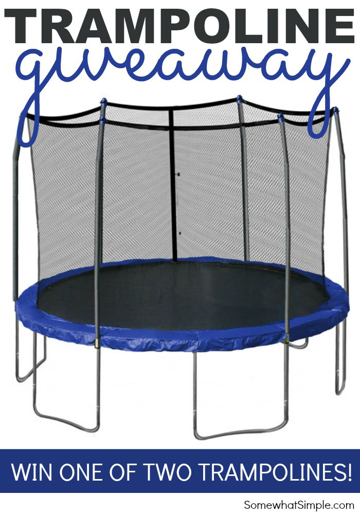Trampoline Giveaway Somewhat Simple