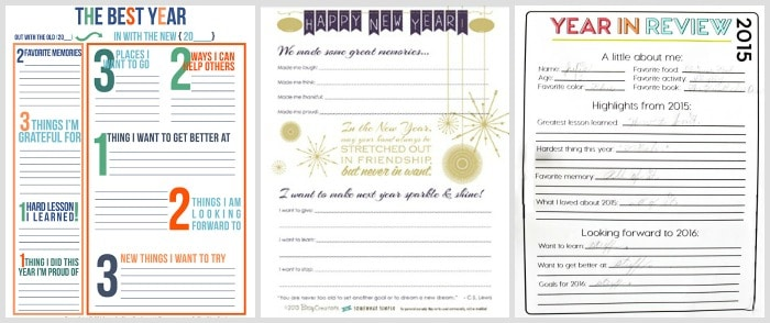 New Years Resolution Printables 1