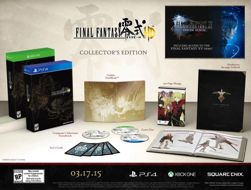 Edición Coleccionista de Final Fantasy Type-0 HD