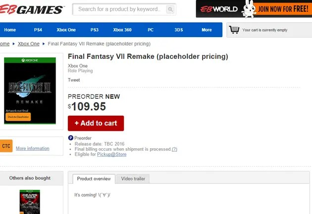 Final Fantasy VII reserva