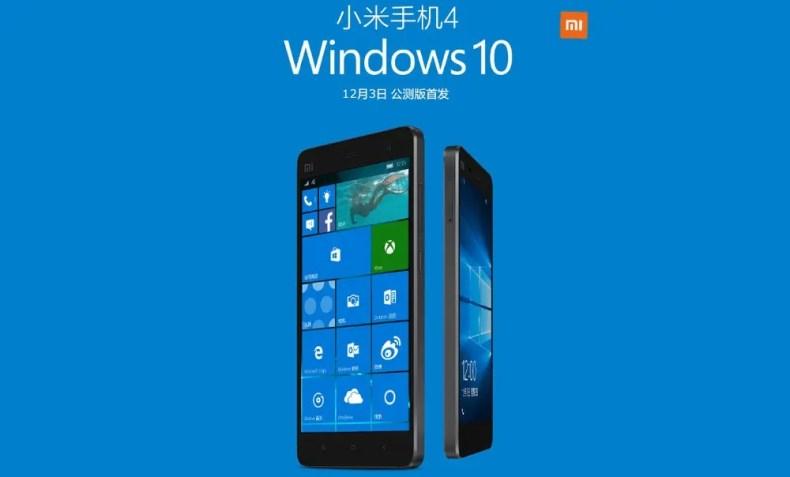 Mi 4 Windows 10