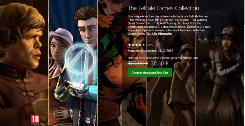 The Telltale Games Collection descuento
