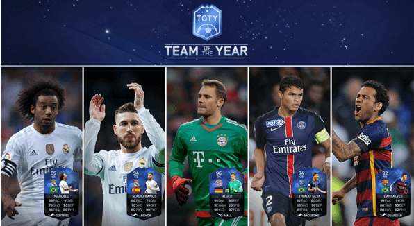 Team of the Year FIFA 16