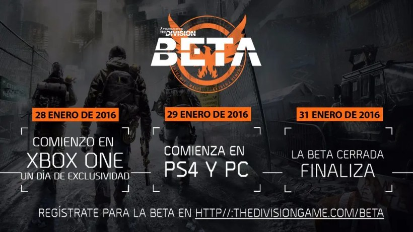 beta the division xbox one