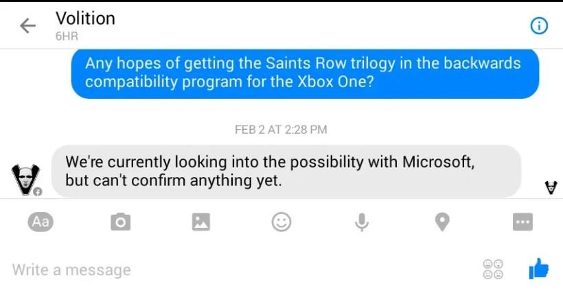 Saints Row Retrocompatible