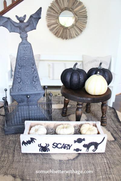 Glittery pumpkins www.somuchbetterwithage.com