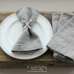 How To Make Your Own Linen Napkins (Placemats)