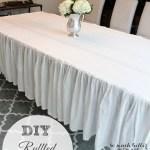 How To Make A Ruffled Tablecloth {Trash To Treasure Series}