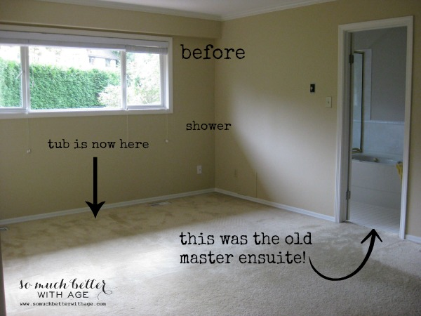 master bedroom style and floor plan via somuchbetterwithage.com