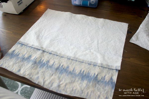 Sew / Envelope pillow cover tutorial via somuchbetterwithage.com
