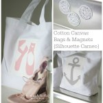 Cotton Canvas Bags & Magnets Using My Silhouette