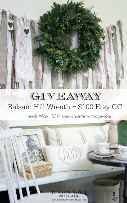 Giveaway Balsam Hill Wreath / Etsy gift card via somuchbetterwithage.com
